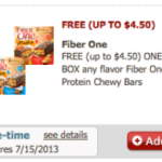 Free Box Of Fiber One Protein Chewy Bars (Just for U Member Safeway & Affiliates)
