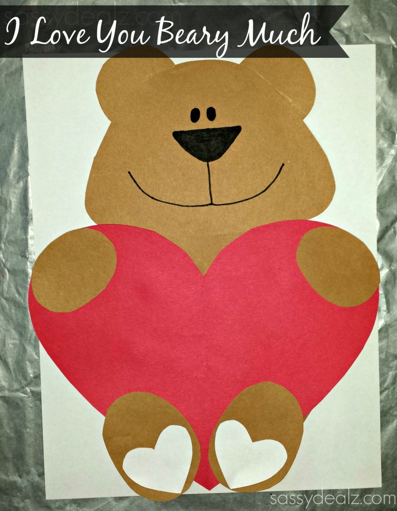 heart bear valentine craft