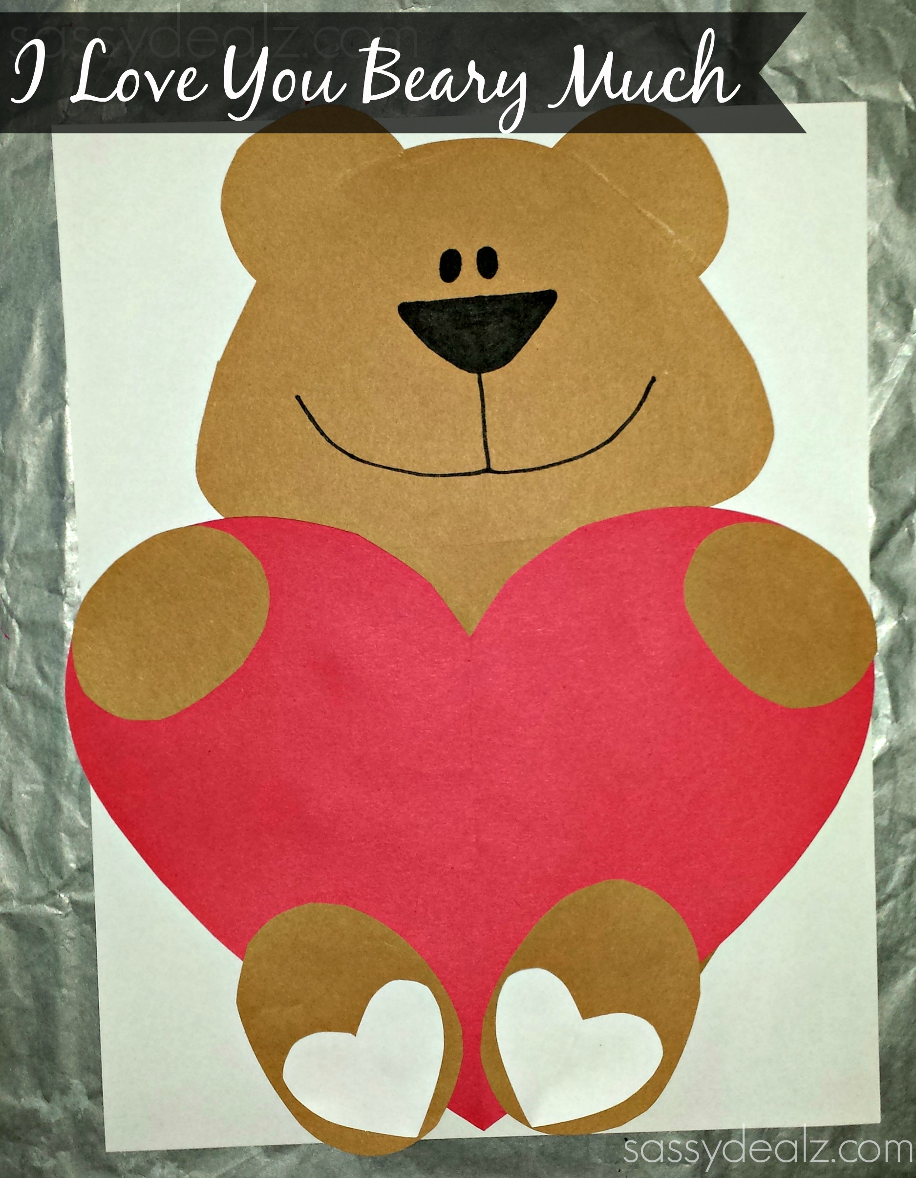 Valentine love bug craft -  I Love You Beary Much Valentine Bear Craft For Kids