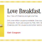 Buy One Box of Cheerios, Get One Free w/ Printable Coupon!