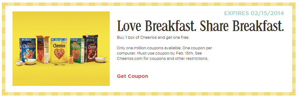 Cheerios coupons