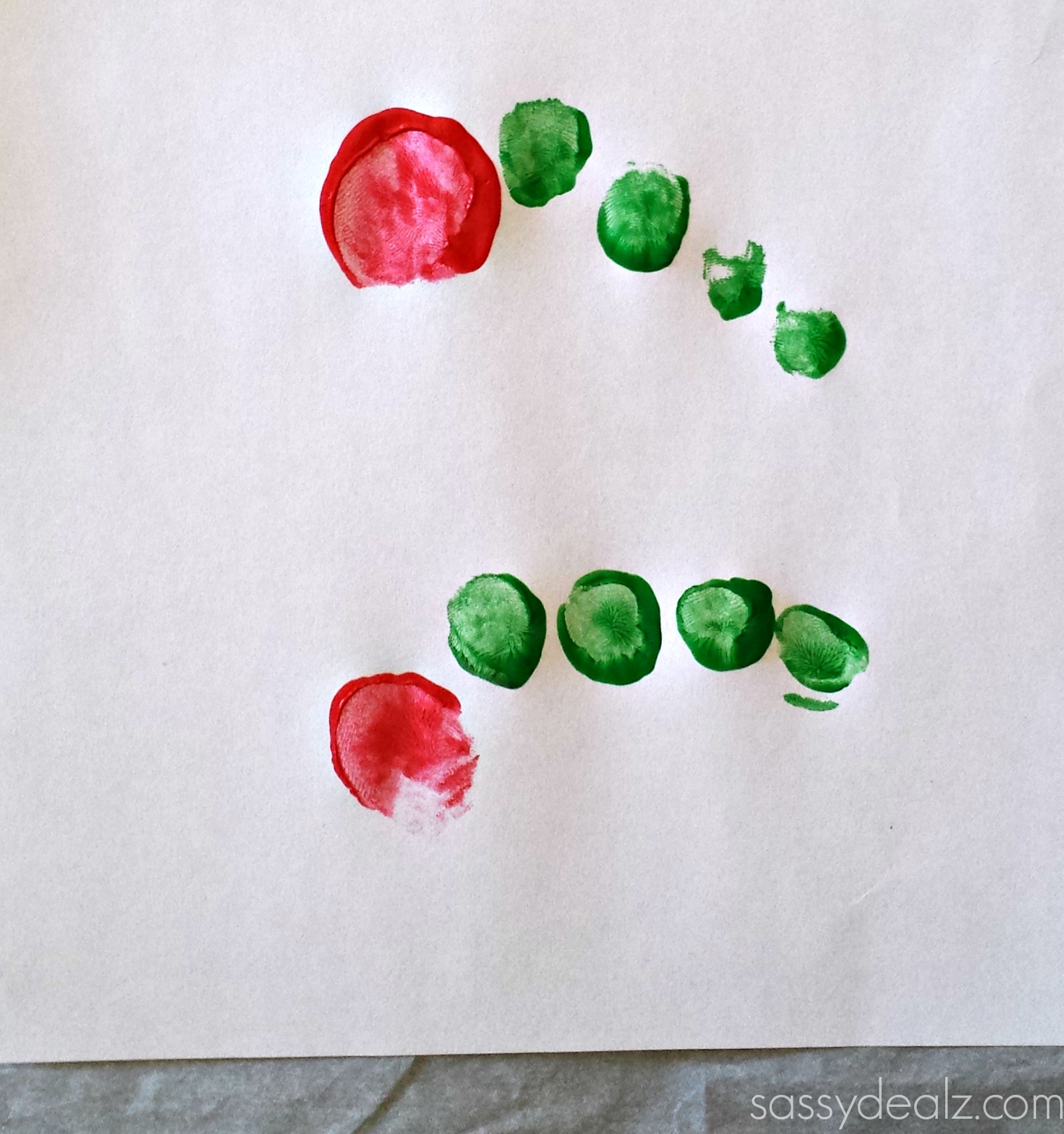 hungry caterpillar craft toe print