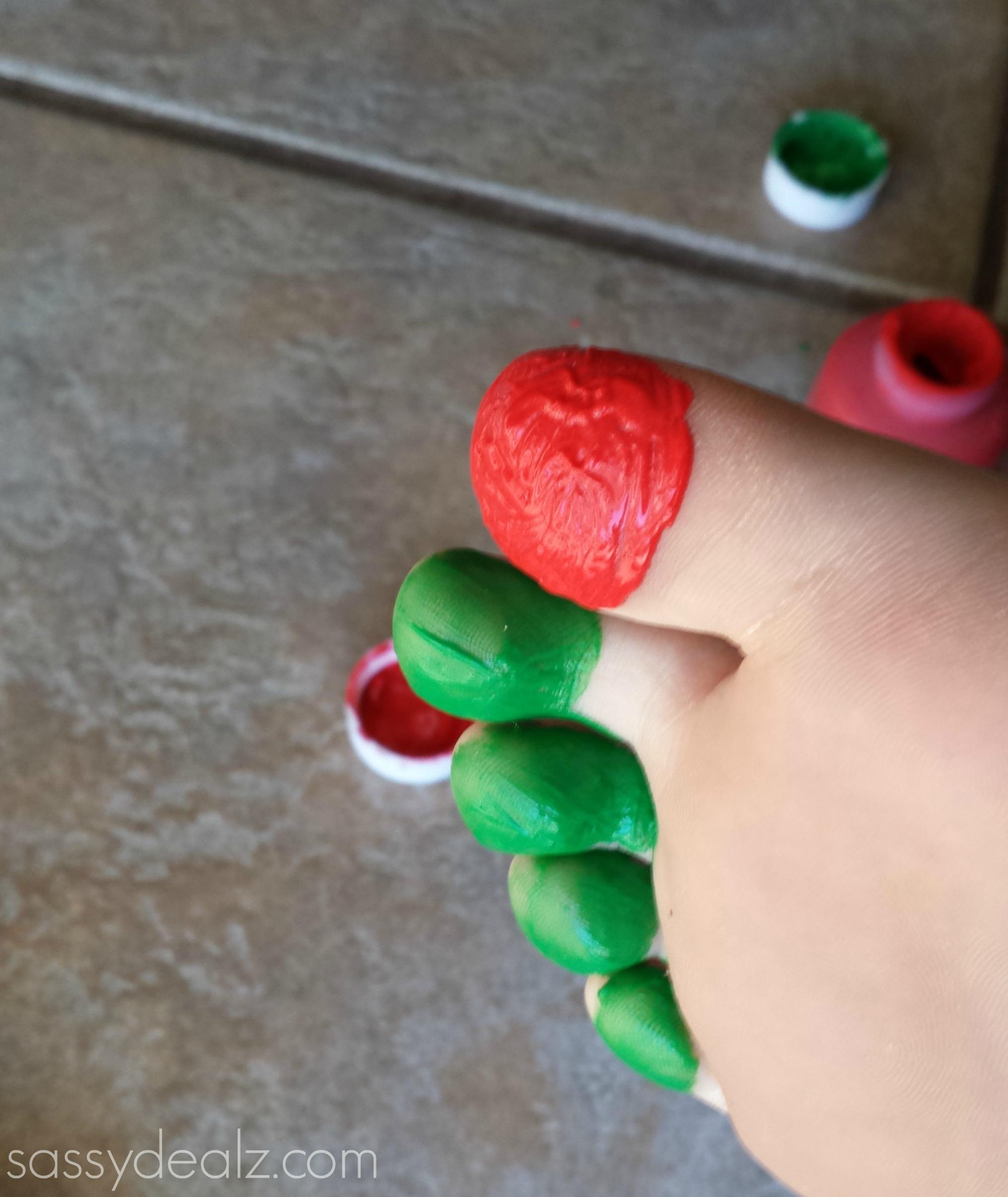 caterpillar toe print craft