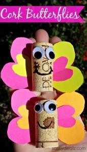 cork butterfly craft