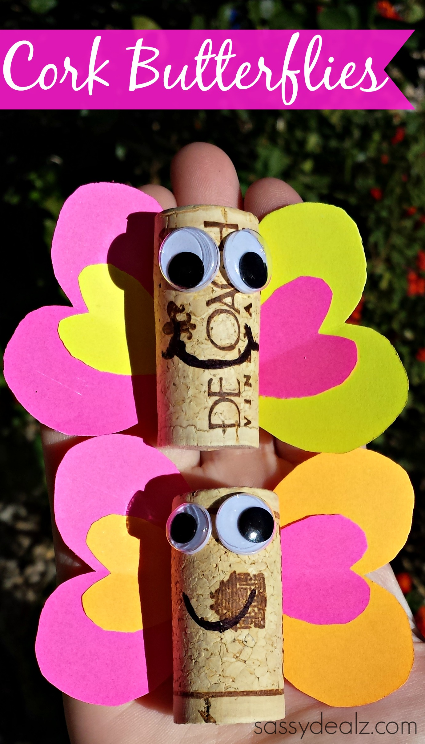 Wine cork butterfly craft for kids crafty morning for Craft projects with corks