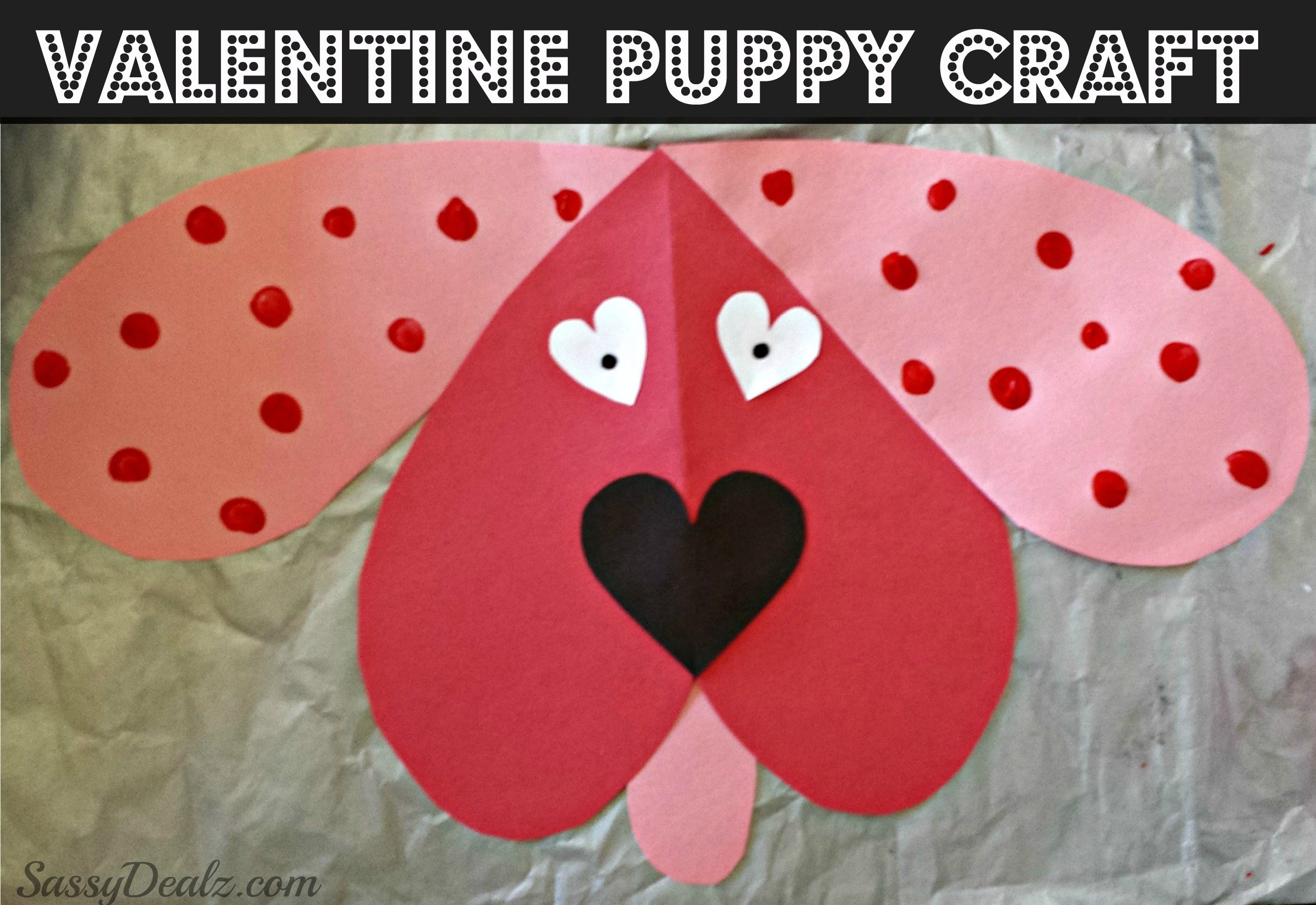 Cute Dog Valentines Day Craft For Kids Crafty Morning