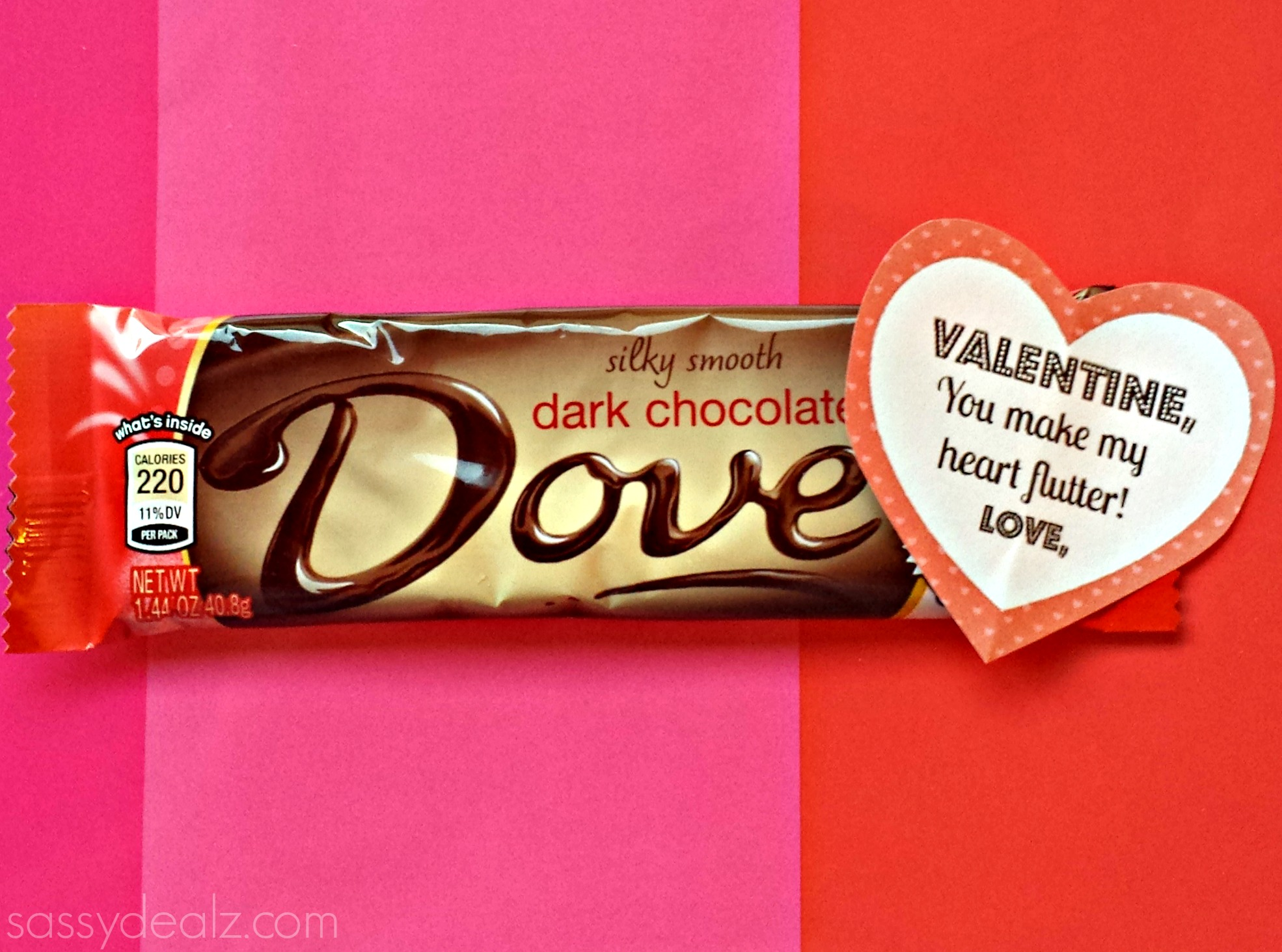 Dove Chocolate Bar Valentine's Day Gift Idea - Crafty Morning