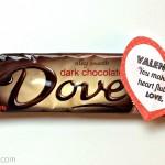 Dove Chocolate Bar Valentine's Day Gift Idea
