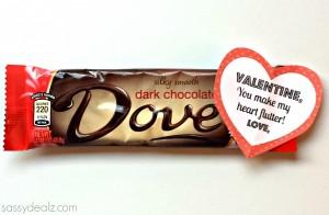 dove chocolate valentines gift