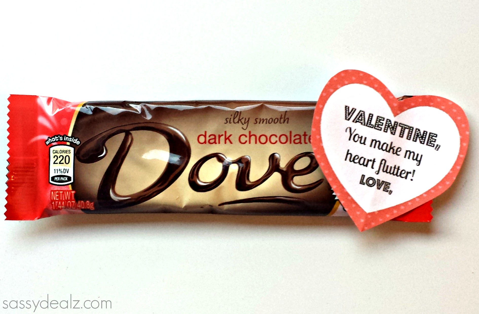 Dove Chocolate Bar Valentine's Day Gift Idea