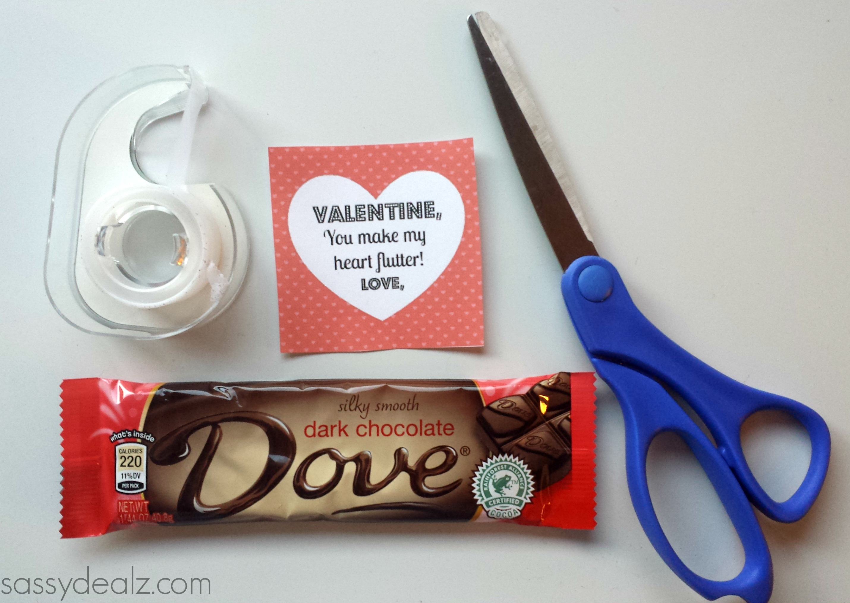 dove chocolate valentines gift