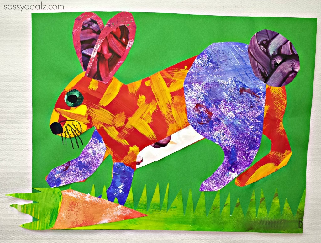 Eric Carle Painting Style Rabbit Craft For Kids