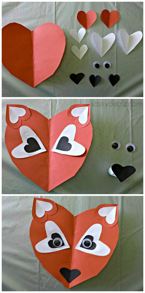 orange fox craft for kids