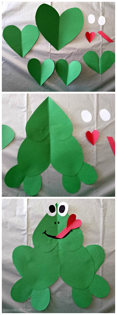 frog heart valentine craft