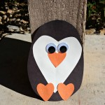 Paper Heart Penguin Craft For Kids
