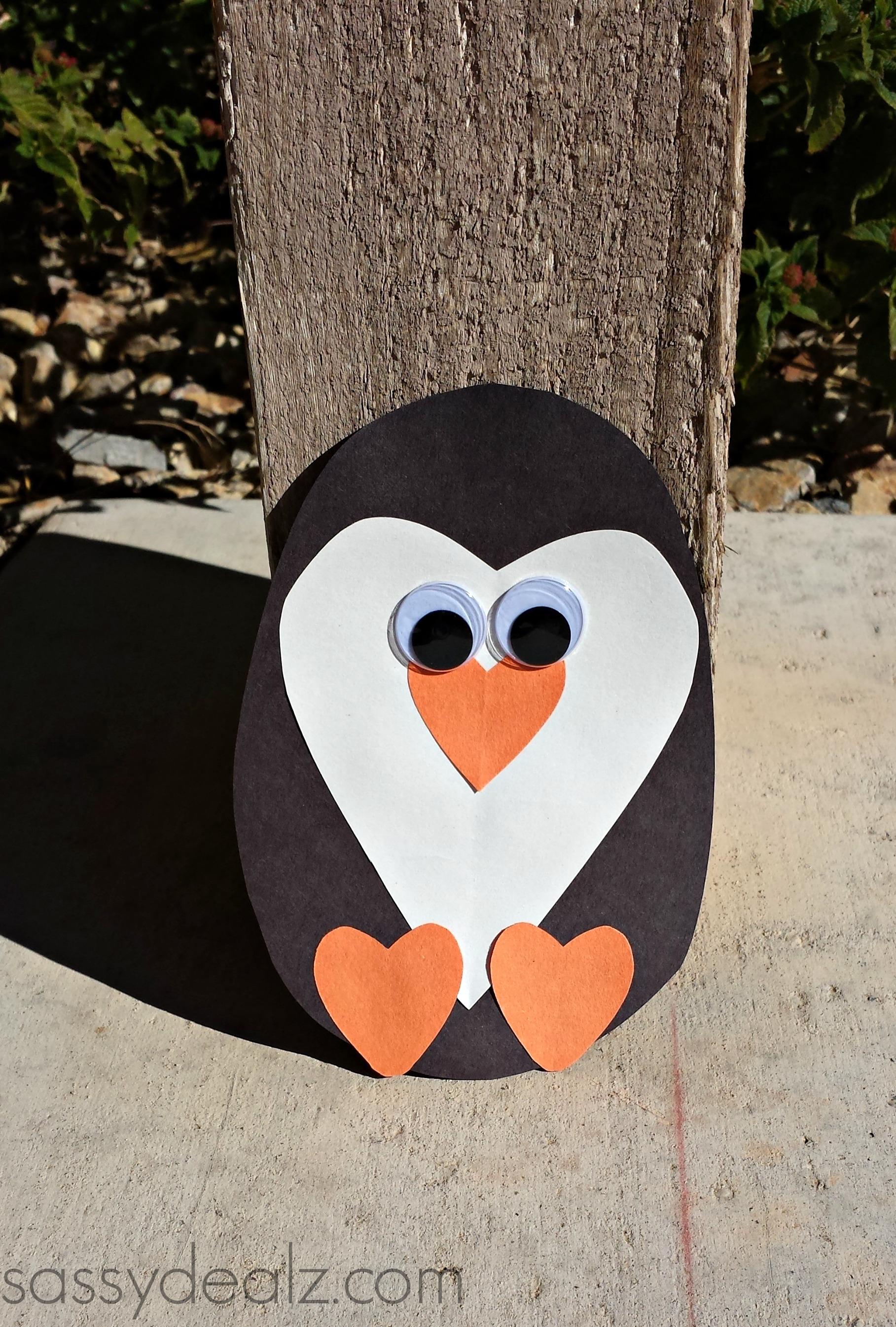 Paper heart penguin craft for kids crafty morning - Sassydeals com ...