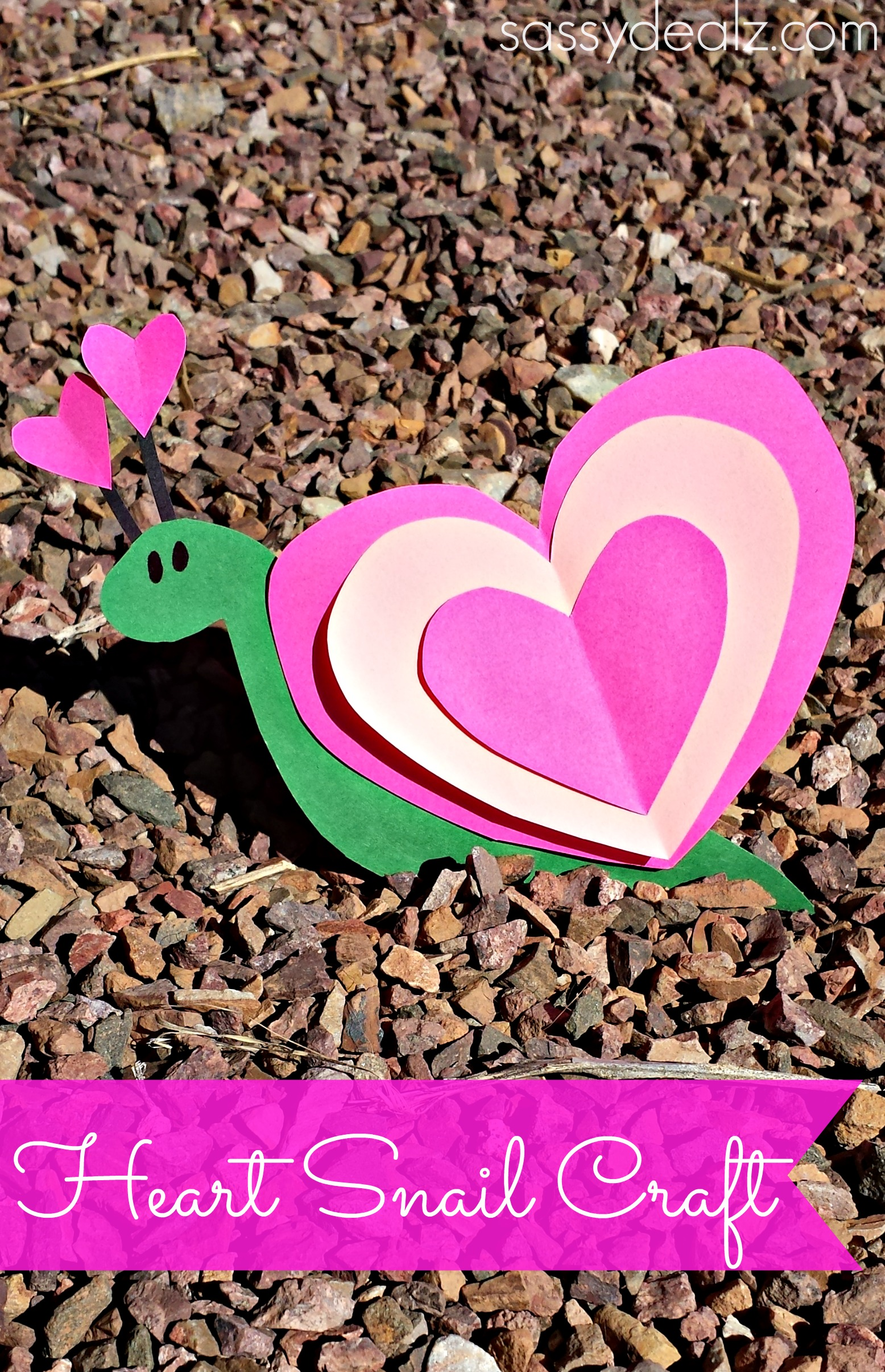 snail valentine craft for kids