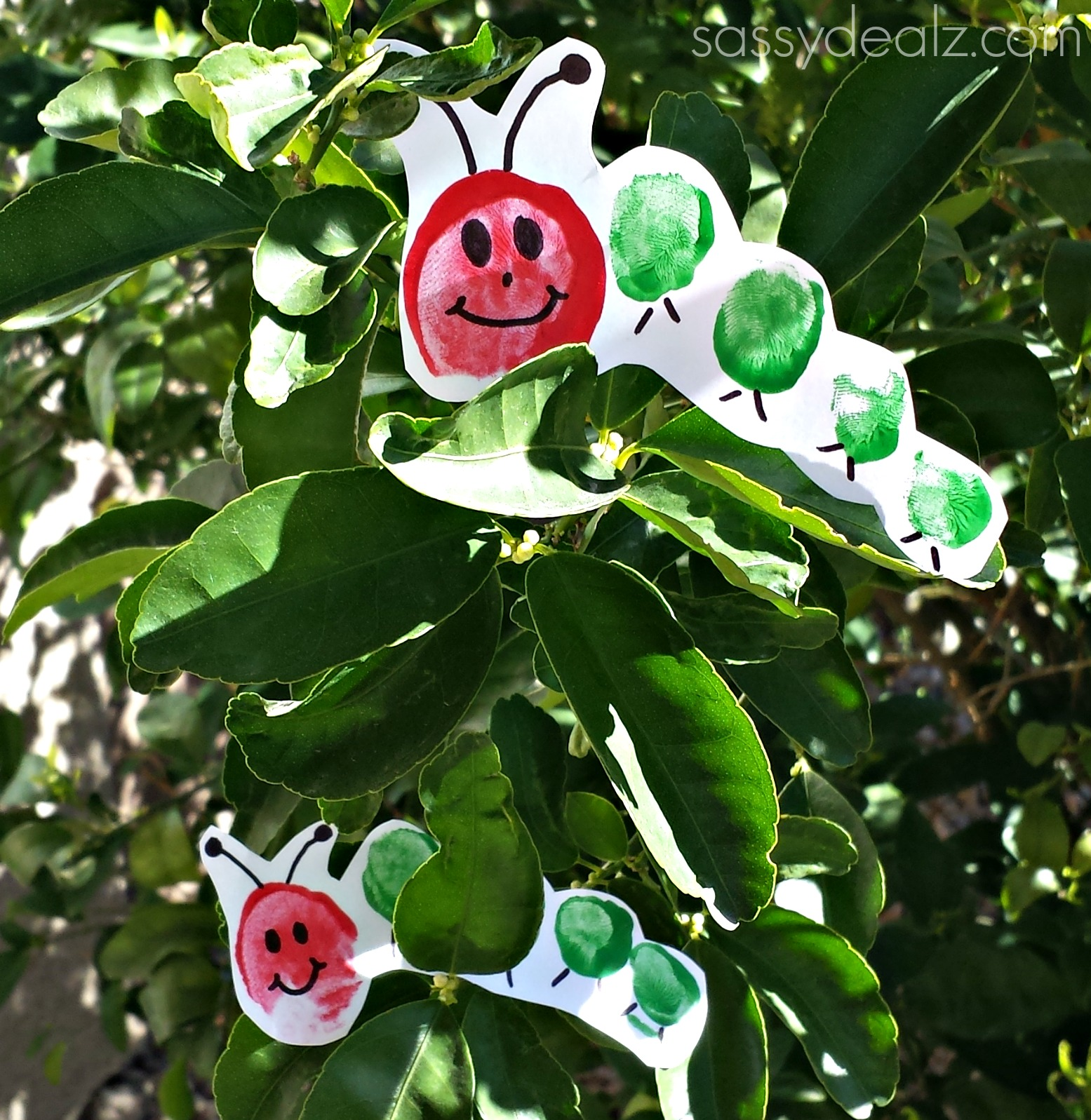 toe print hungry caterpillar craft