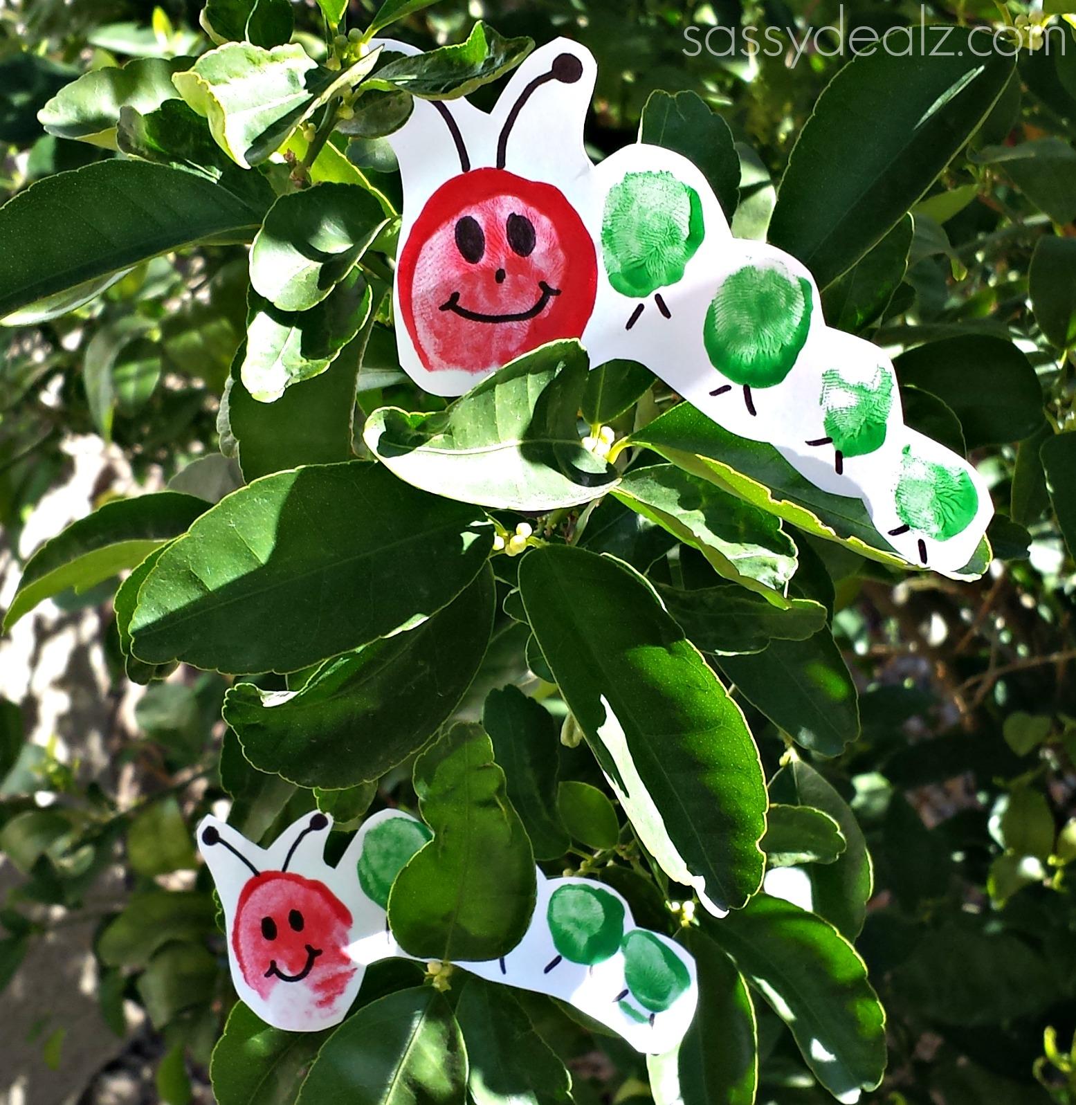 toe print hungry caterpillar craft