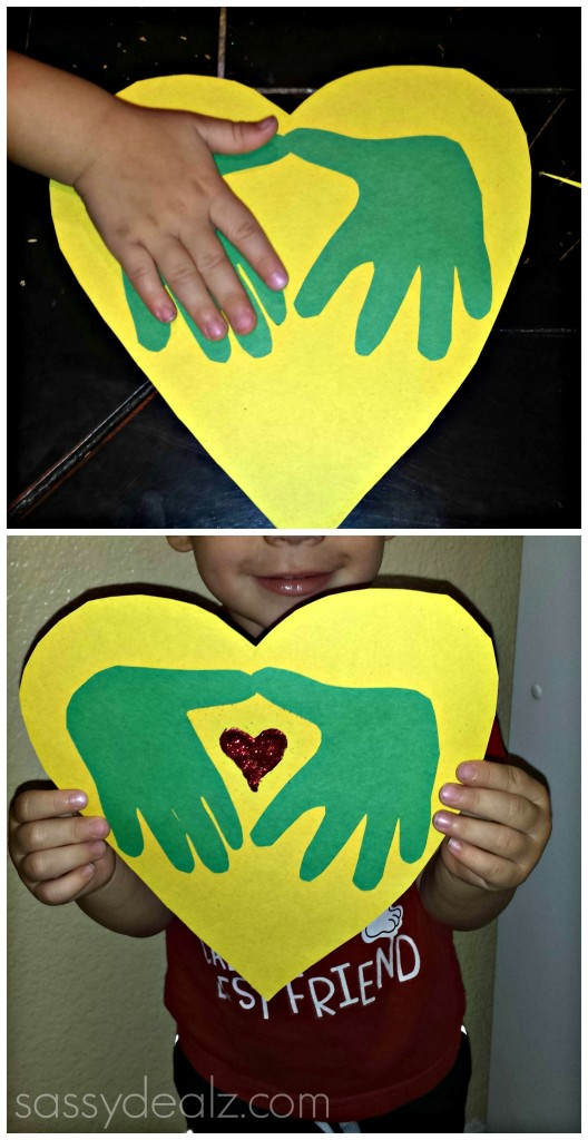 valentine heart handprints