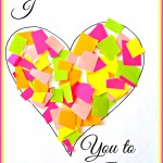 """I Love You to Pieces"" Heart Craft For Kids {Valentine Card Idea}"
