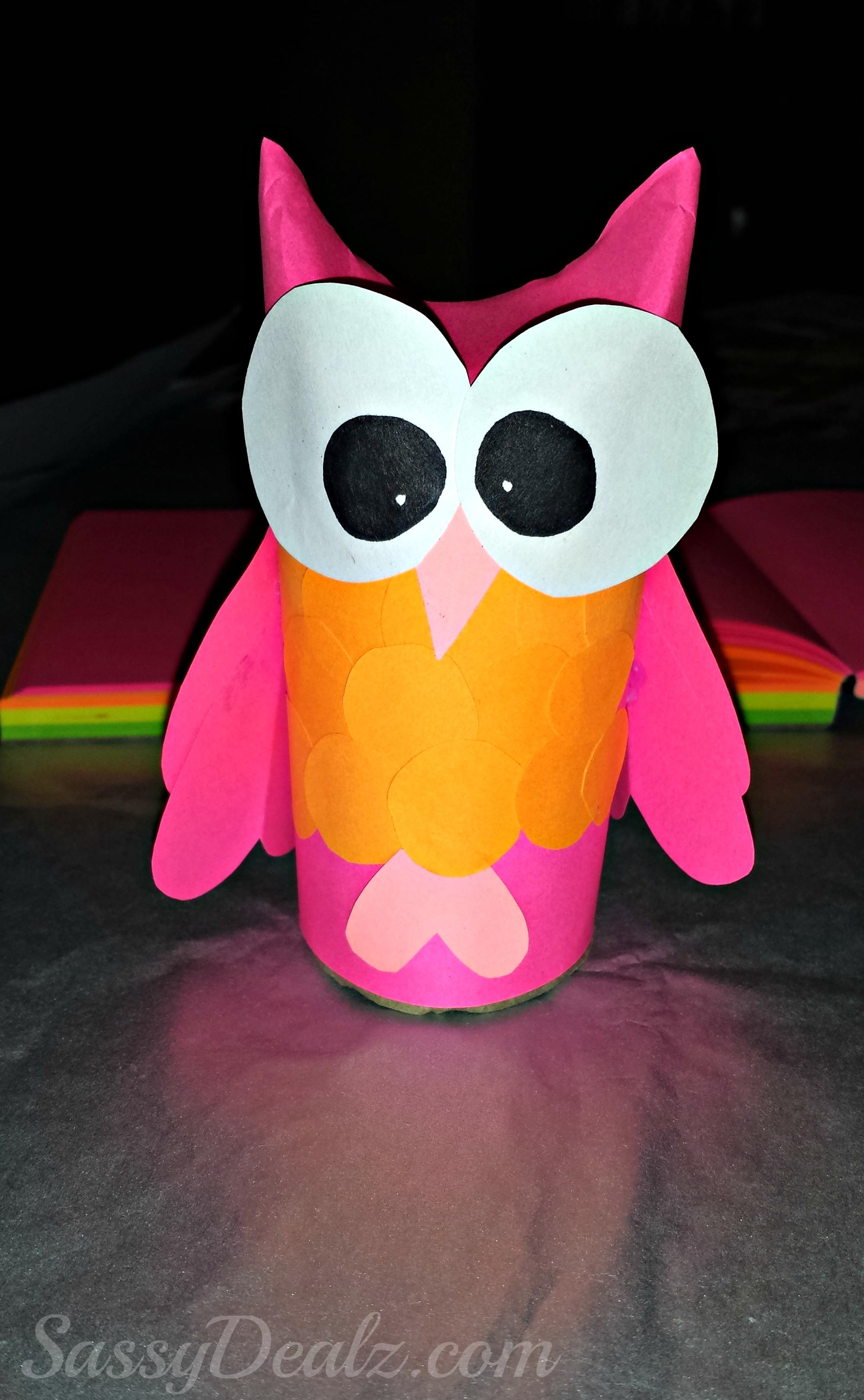 Diy owl toilet paper roll craft for kids crafty morning for Diy paper crafts for kids