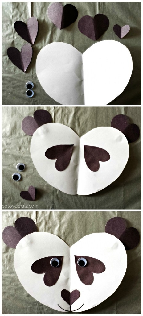 Valentine Panda Craft