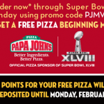 Papa John's: Spend $15 & Get a FREE Pizza w/ Promo Code (Exp 2/2)