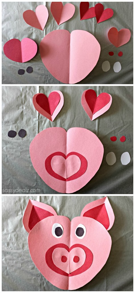 pig craft for kids valentines