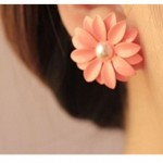 Pink Daisy Flower Earrings Only $3.23 Shipped