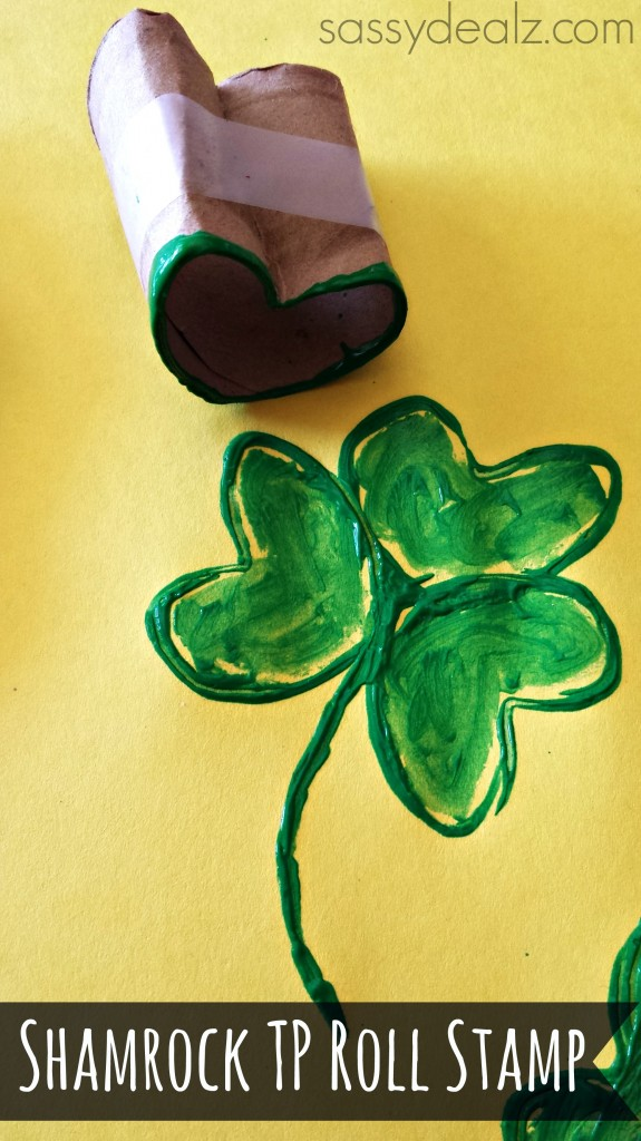 shamrock toilet paper roll craft