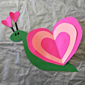 snail heart craft for kids
