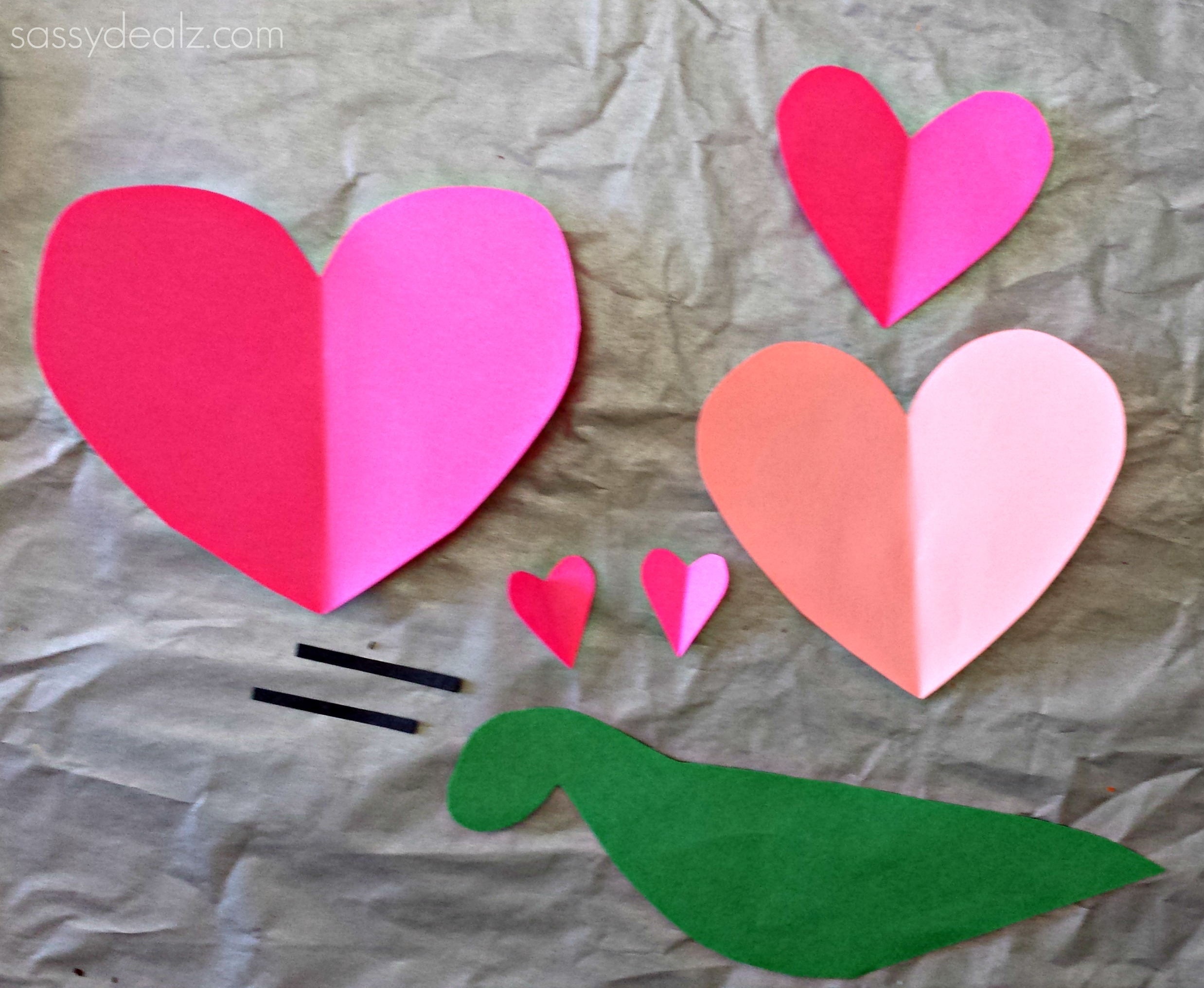 heart snail valentine craft