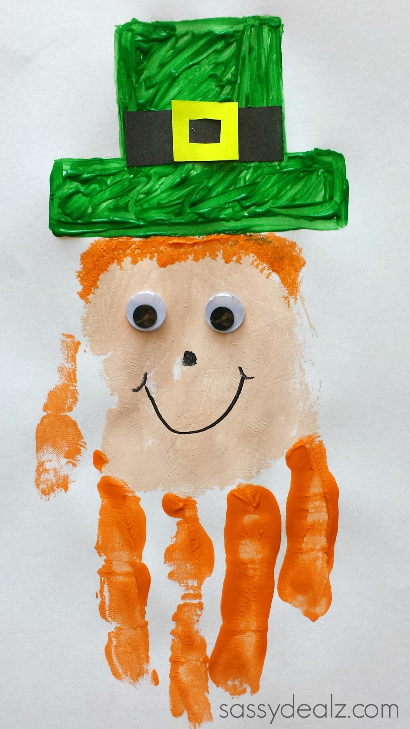 St patricks day preschool crafts - St Patrick Handprint Craft