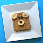 Teddy Bear Toast (Healthy Kid's Breakfast Idea)