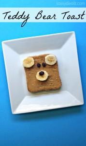 Teddy Bear Toast (Healthy Kid's Breakfast Idea)