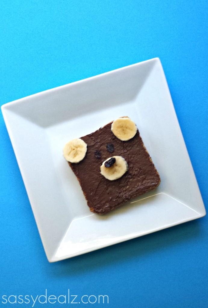 teddy bear toast nutella