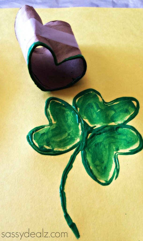 shamrock toilet paper roll stamp
