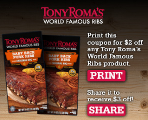 tony roma rib coupon