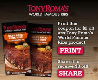 Tony romas coupons printable 2018