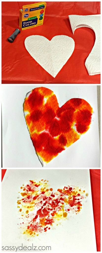 Valentines Craft Ideas For Kids Part - 45: Food Coloring Craft