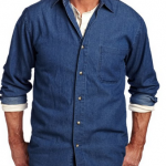 Men's Washed Denim Long Sleeve Shirt Only $5.29 Shipped