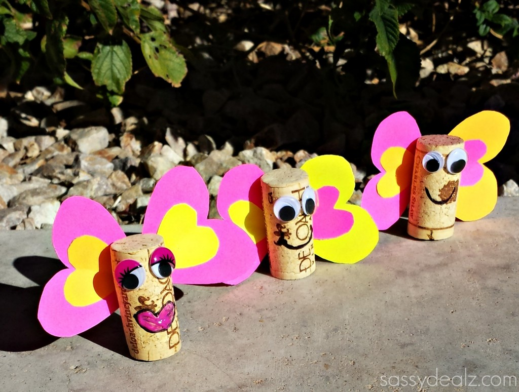 wine cork butterfly craft