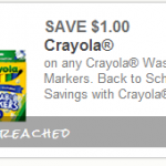 *RARE* $1.00 Off any Crayola Washable Markers Printable Coupon -HURRY!