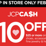 JCPenney: Get $10 off a $25 Purchase w/ Coupon (Exp 2/8)