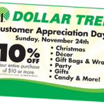 10% Off Dollar Tree Printable Coupon (Valid Today Only! 11/24)