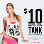 $10 Limited Edition Victoria Secret Tank with a Pink Purchase