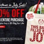 The Body Shop – 50% Off Your Entire Purchase When You Buy a $5 Bag for Life (Today Only!)