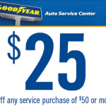 Goodyear Auto Center- Get $25 off a $50 Service Purchase w/ Printable Coupon (Exp 9/9)
