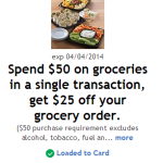 Kroger & Affiliates: Get $25 off a $50 Purchase w/ eCoupon!!